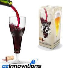 FRED Genuine BEER DEAUX Bottle Upside Down Wine Beer Glass Novelty Gift