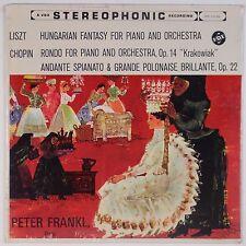 LISZT: Hungarian Fantasy Piano SEALED Vox Stereo PETER FRANKL Vinyl LP