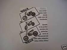 advertising Pubblicità 1980 MOTO VILLA 125-250-410