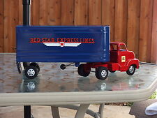 Buckeye Dunwell Red Star Express Lines Semi 1950s Restored Truck & Trailer