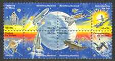 EE. UU. 1981 espacio/Astronautas/alunizaje/Shuttle/Satélite/planetas 8 V Negro (n22681)