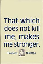 That Which Does Not Kill Me (Friedrich Nietzche) fridge magnet (cw)