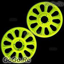 Tarot Yellow Slant Thread Main Drive Gear 121T x2 For T-Rex 450 (RH45156-04YY)