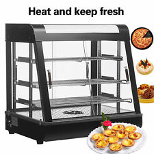 """1x Commercial Food Warmer Court Heat Food Pizza Display Warmer Cabinet 27""""Glass~"""
