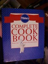 PILLSBURY COMPLETE COOK BOOK (RING BOUND Cookbook) BLUE w/ DOTS & RED BOW #72676