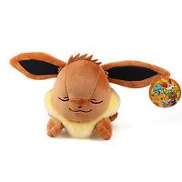 "16"" 41Cm Original Licensed Pokemon Sleeping Eevee Plush Toys Soft Stuffed Doll"