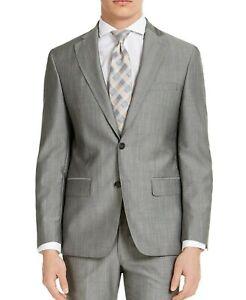 DKNY 40R Light Grey Tic Slim Fit Stretch Suit Jacket Mens 40 $525