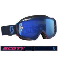 Gafas Scott Mx Hustle Motocross En Ángulo Azul/Rosa Con Lente Azul Funciona