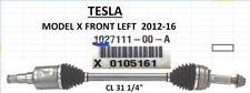 Genuine Tesla 1027111-00-A  Model X Drive Shaft CV Axle Front Left  2012-2016