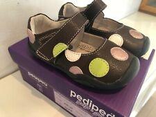 Pediped Grip N Go Ragazze Giselle Marrone Spot Scarpa UK 5-5.5 neonato EU22 NUOVO con scatola £ 34.00
