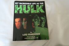 signed autographed MY INCREDIBLE LIFE AS THE HULK by Lou Ferrigno autobiography