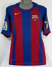 NIKE BARCELONA SPAIN MESSI 1ST GAME 2004 ANTIRACISM M ORIGINAL JERSEY SHIRT