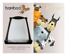 [3 Sets] Kidz Kiss Bamboo Fitted Waterproof Change Mat / Change Pad Cover