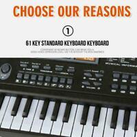 61 Keys LED Digital Electric Microphone Piano Music Organ Keyboard F4C3 Y4O7