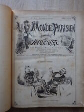 LE MONDE PARISIEN Journal du High-Life 2eme Semestre 1880 Jean Louis Forain RARE
