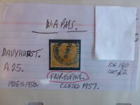 OLD WEST AUSTRALIA POSTMARK ON SWAN STAMP DAVYHURST 1906