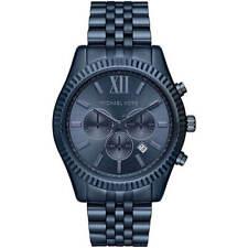 Michael Kors Men's Watch Lexington Chronograph Blue Dial Bracelet MK8480