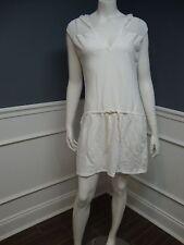 Q1 Victoria's Secret M white hooded sleeveless beach cover dress Sislou