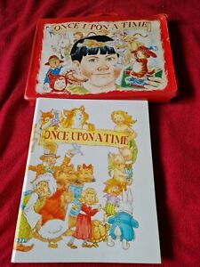 Once Upon A Time Story Book Audio Cassettes Carry case with 12 Tapes Children's