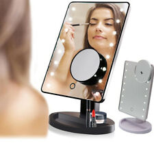 10X Magnifying Personal Touch Screen Makeup Mirror LED Light Kit Make Up Mirror