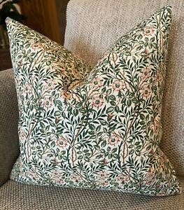 """Sweet Briar Green, William Morris 12"""" Cushion Cover"""
