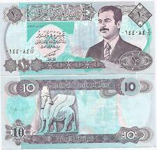 Iraq 10 Dinars P-81 1992 UNC Saddam Hussein Dictator Banknote