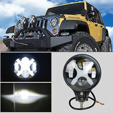 6inch 60W Round LED Light Driving Working Fog Off-Road Lamp For Jeep TJ 97-06