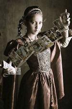 Gypsy FORTUNE TELLER W TARROT  *Crazy quilting*Quilt art fabric block*5X7 INCH