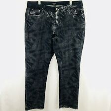 792282d507537 Ashley Stewart Skinny Jeans Plus Size 24 Dark Blue Silver Glitter Stretch