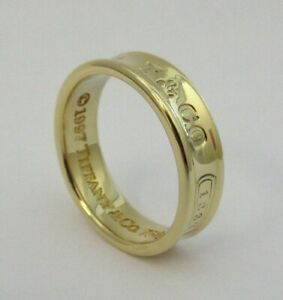 TIFFANY & Co. 1837 18K Yellow Gold 6mm Wide Ring 8.5