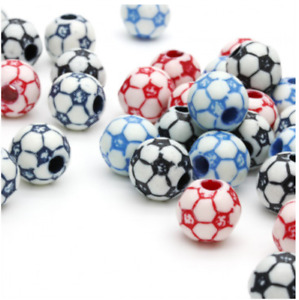 100 FOOTBALL PONY BEADS - LIMITED OF STOCK, ONCE ITS GONE, ITS GONE (mixed)