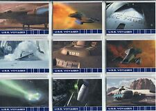 Star Trek Voyager Quotable Complete USS Voyager Chase Card Set V1-9