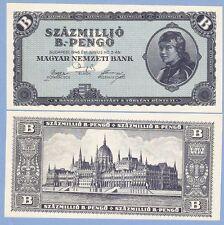 Hungary, 100 million (100000000) b.-pengo, 1946, UNC, P 136