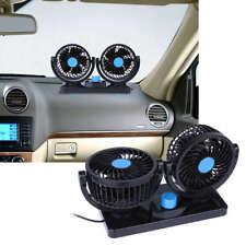 12VOLT 2 SPEED TWIN FAN 360° ALL-ROUND DUAL FAN FOR CARS VANS CARAVANS