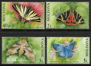 STAMPS-MOLDOVA. 2003. Butterflies & Moths Set. SG: 455/58. Mint Never Hinged.