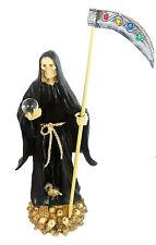 14 Inch Statue of La Santa Muerte Statue Holy Death Grim Reaper Black