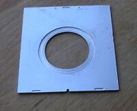 Linhof III 3 6x9 Technika  Lens board with 34.5mm compur 0 hole  81 x 75