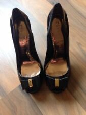 River Island Peep Toe Patent Leather Heels for Women