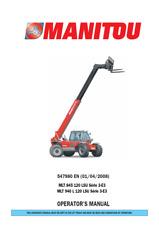 MANITOU MLT SERIES 3-E3 845 120 MLT 940 L120 OPERATOR MANUAL PDF SENT VIA EMAIL