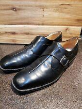 Franco Fortini Men's Sz 12(John) Black Leather Monk Strap Dress Shoes,Great cond