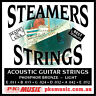 STEAMERS LIGHT Gauge ACOUSTIC GUITAR STRINGS, 11-52, USA MADE, NEW, FREE POSTAGE