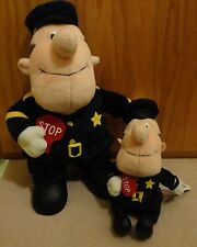 NEW Plush & Beanie Frosty The Snowman Traffic Cop 2 Police Crossing Guard Toys