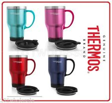 Thermos Travel Mug 470ml Stainless Steel Insulated Interior TEAL PINK BLUE RED