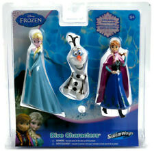 Disney Frozen Dive Characters Anna Elsa Olaf Water Pool Flexible Toy 2014 Sealed