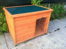 DOG KENNEL NEW WOODEN HOUSE TIN ROOF BIG DOG HOUSE Large CABIN HOME FREE PICKUP