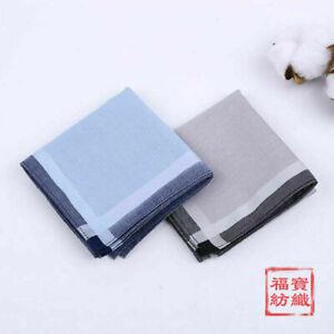 Quality Combed Cotton Handkerchiefs Hanky Kerchiefs Pocket Square Unisex 43*43cm