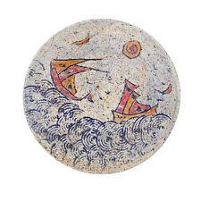 Decorative Plate - Handmade Ceramic Table or Wall Art Decor Plate - Sea & Ship