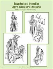 Haslam Draft Pattern Making Book #6 (Sewing Drafting) Dress Fashions 1940s 40s