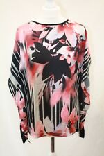 WALLIS, Ladies summer Floral Print Silky Front Blouse, Size S