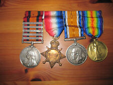 Queens South Africa Medal (5 Bars) with WW1 Trio